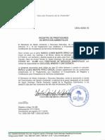 Certificado Prestador de Servicios Ambientales MUPG