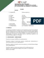 farmacoquimica 1 SILLABUS