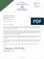 Melendez Letter to California AG