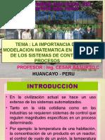 La Importancia de La Modelacion Matematica en El Diseño de Los Sistemas de Control