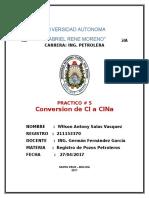 Practico de Conversion de Cl a Clna