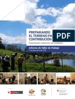 Informe de Taller de Trabajo Preparando El Terreno Para La Contribución Nacional