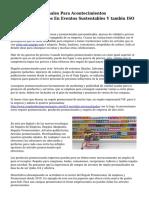 Regalos Promocionales Para Acontecimientos SosteniblesExpertos En Eventos Sustentables Y tambin ISO 20121