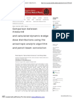 Comparison Between Measured vs. Calculated Dynamic Wedge Dose Distributions Using AAA and PBC Algorithms _ Caprile _ Journal of Applied Clinical Medical Physics