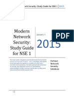Modern Network Security Study Guide for NSE 1.PDF