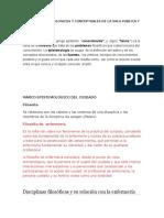 Marcos Epistemologicos y Conceptuales de La Salu Publica y Comunitaria