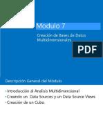UNIDAD 7. Creación de Bases de Datos Multidimensionales