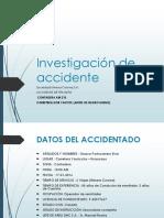 Investigación de Accidente Sosa Zamta Gianmarcos