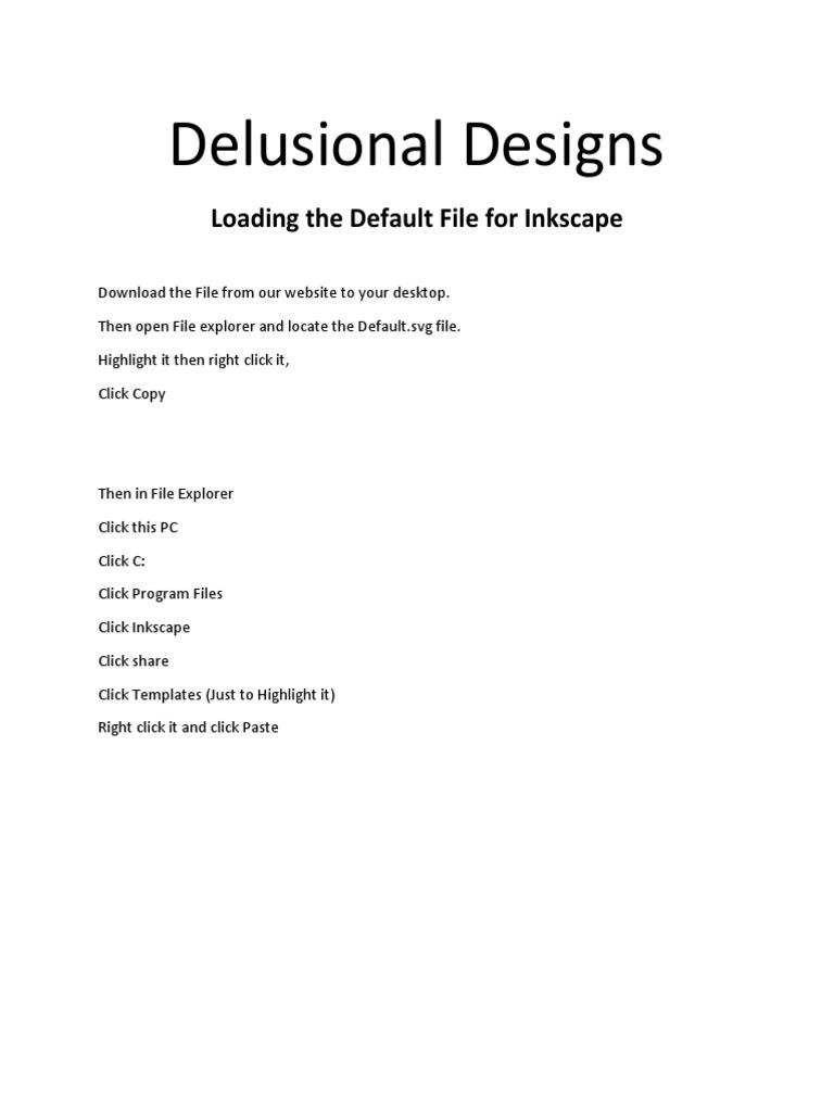 inkscape default instructions