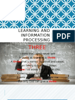 Learning and Information Processing- AmsReport