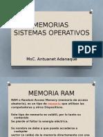 Memorias SISTEMAS OPERATIVOS
