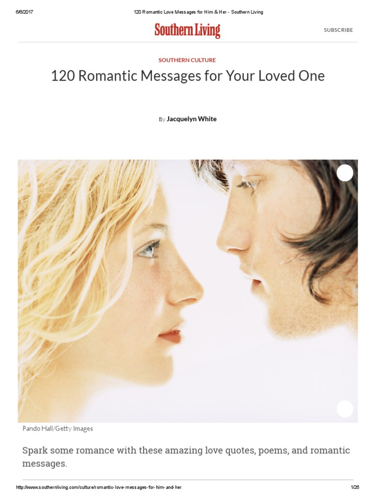 876b2c05fec 120 Romantic Love Messages for Him   Her - Southern Living