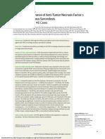 Efficacy and Tolerance of Anti–Tumor Necrosis Factor α