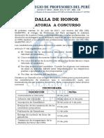 CONVOCATORIA Y CRONOGRAMA - MEDALLA DE HONOR CPPe 2017