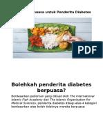 Puasa Pada Diabetes melitus