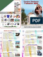 DIPTICO Fiestas Patronales en Honor Al Santo Patrón San Antonio de Padua en Tallante - Cartagena