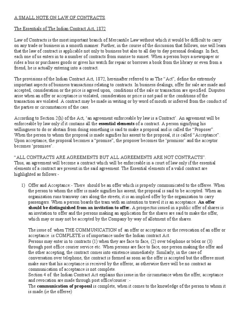 Note on contract act guarantee damages platinumwayz