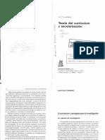 Lundgren U. 1992 Teoria Del Curriculum y Escolarizaci n Cap. I