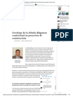 Decálogo de La Debida Diligencia Contractual en Proyectos de Construcción