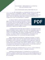 PREGÓN DE TRINO EN LA APERTURA DE LAS FIESTAS DE LAS MAJADILLAS 2008 EN HONOR A SAN LUIS GONZAGA