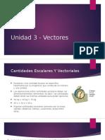 Unidad 3 - Vectores