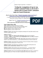 Study Guide on Testing the Assumptions of Age-To-Age Factors - G. Stolyarov II
