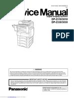 Service Manual Panasonic KX-MB2025EXW - KX-MB2030EXW