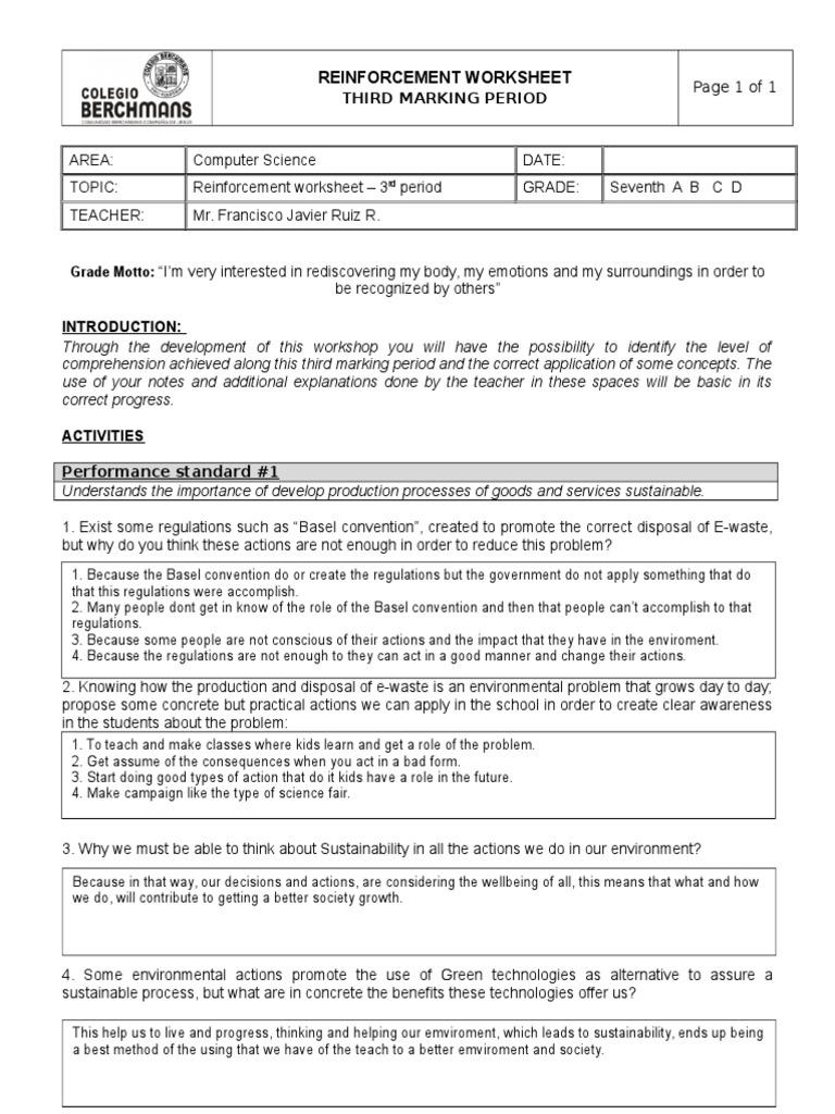 reinforcerment worksheet 7th third period lucas gomez