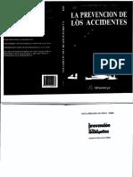 Libro La Prevencion de Los Accidentes