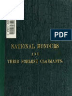 (1867) National Honours and Their Noblest Claimants
