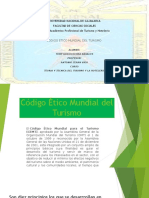 Codigo Etico Mundial Del Turismo Informe