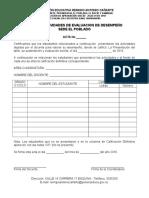 Acta de Calificacion Evaluacion de Desempeño