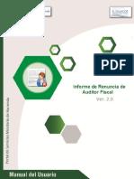 Manual Del Usuario - Como Informar La Renuncia de Auditor