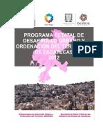 4) Progama Estatal de Desarrollo Urbano y Ordenacion Del Territorio de Zacatecas 2012