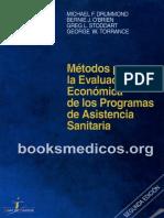 Drummond 1997 2ed - Evaluación Económica de Programas de Asistencia Sanitaria