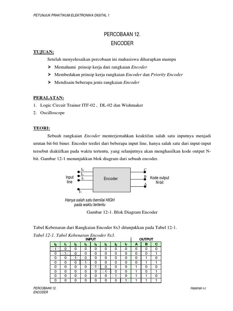 Perc12 Encoderpdf Logic Diagram Encoder