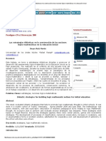 Las Estrategias Didácticas en La Construcción de Las Nociones Lógico-matemáticas en La Educación Inicial