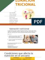 valoración nutricional del adulto mayor