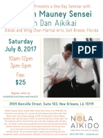 Weldon Mauney Sensei Saturday Seminar at NOLA July 2017