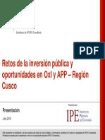 RETOS DE LA INVERSION PUBLICA CUSCO