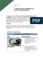 Informe de Inspecciòn de Epp