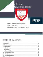 Job Training Report Tarida Isabella p Xiitkj1
