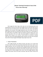 Analisa Perbandingan Teknologi Komunikasi Jaman Dulu Versus Jaman Sekarang