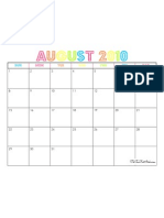 August 2010 Calendar - The TomKat Studio