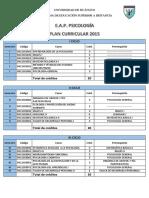 Plan de Estudios Udh Psicologia 2018