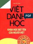 Việt Danh Học - Cao Từ Linh