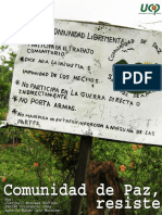 Libro de Producción Comunidad de Paz, Resiste