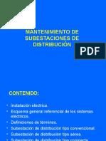 Mantenimiento de Subestaciones de Distribucion I 19963