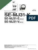 Pioneer Se-mj31-e k v Sm