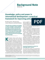 2013 Knowledge, Policy and Power in International Development- A Practical Framework for Improving Policy